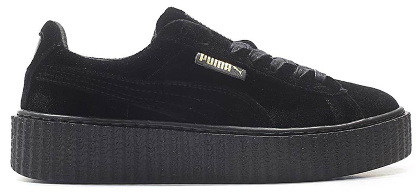 Puma Creeper Velvet Rihanna Fenty Black