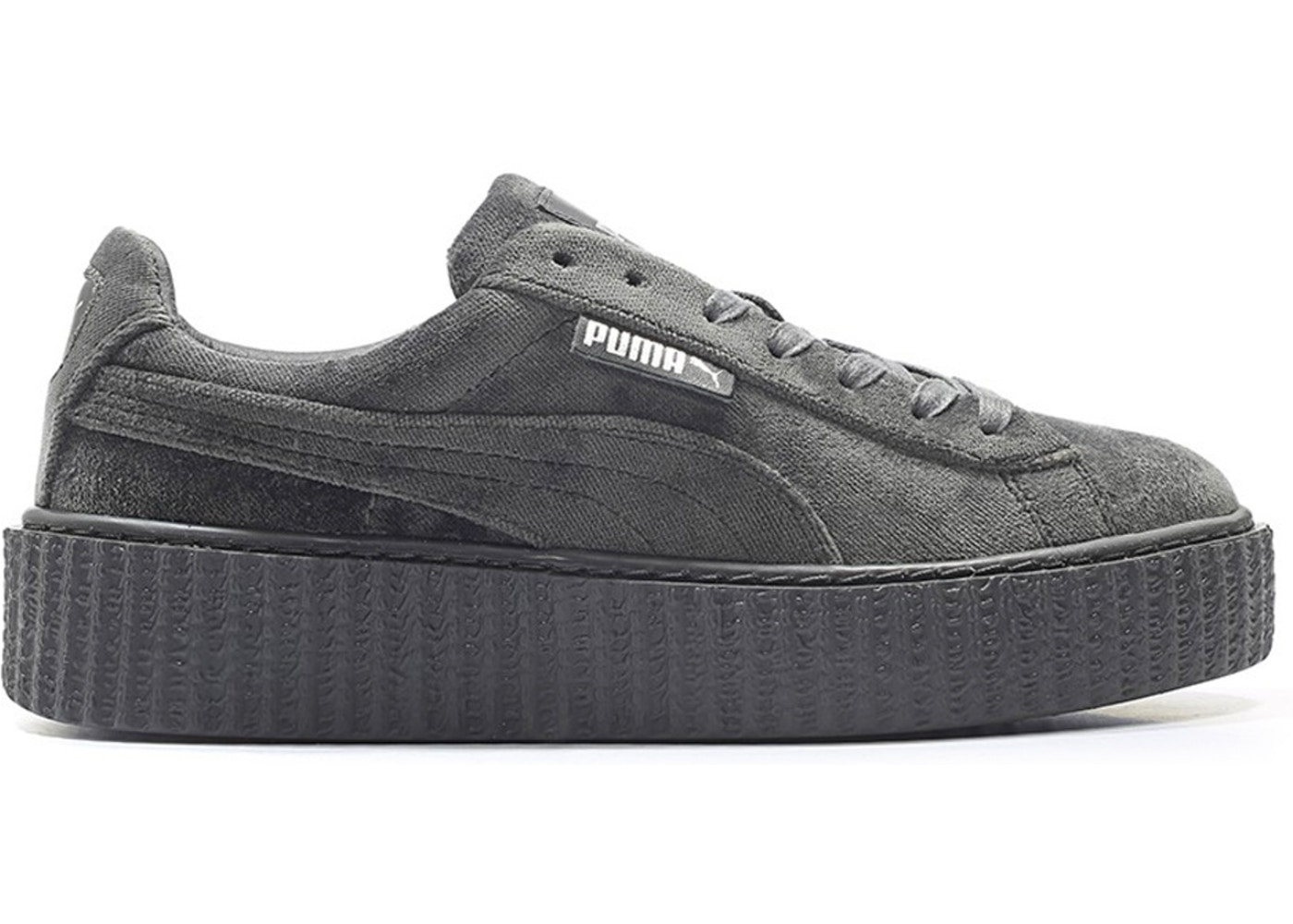 entire collection release info on stable quality Puma Creeper Velvet Rihanna Fenty Glacier Grey (W)