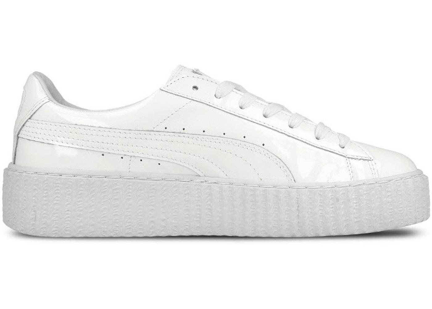 buy popular 37865 4fd00 Puma Creepers Rihanna Fenty Glossy White