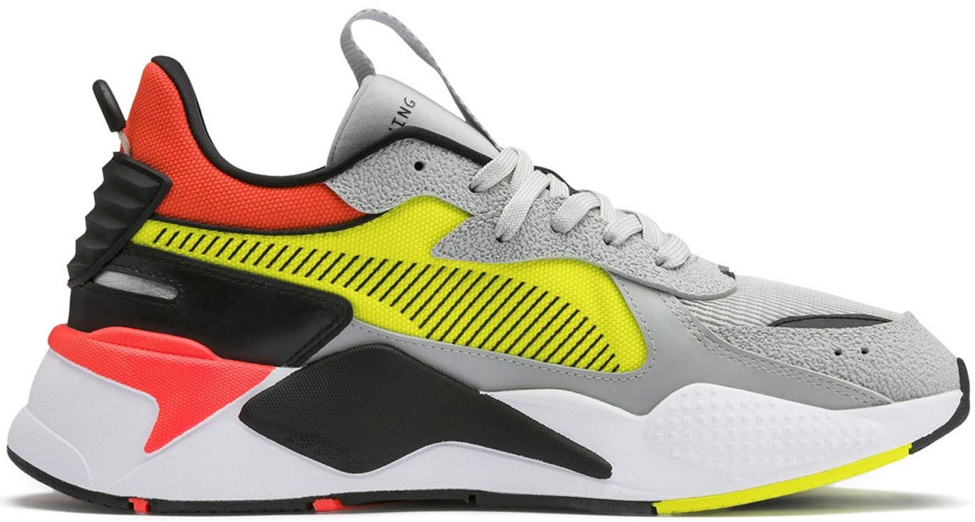 Puma RS-X Harddrive Grey Yellow Red