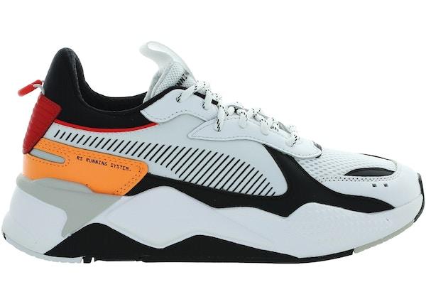 7843e9c8a Puma RS-X Tracks White Black Orange