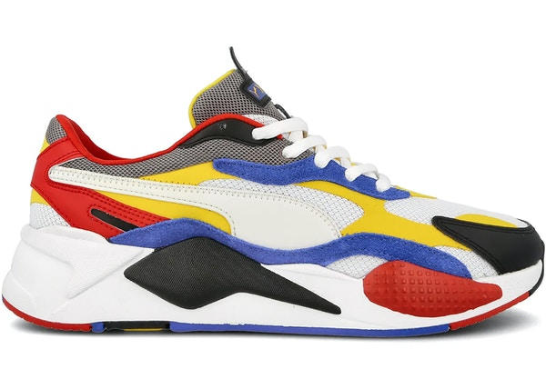 Puma RS-X3 Puzzle White Yellow