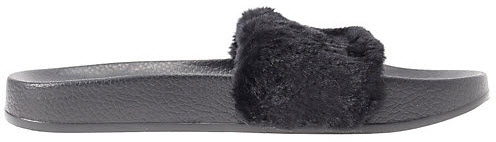 Puma Fur Slide Fur Slide Black (W)