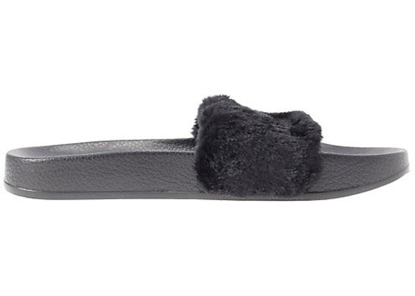 wholesale dealer 51416 b2cee Puma Fur Slide Fur Slide Black (W)