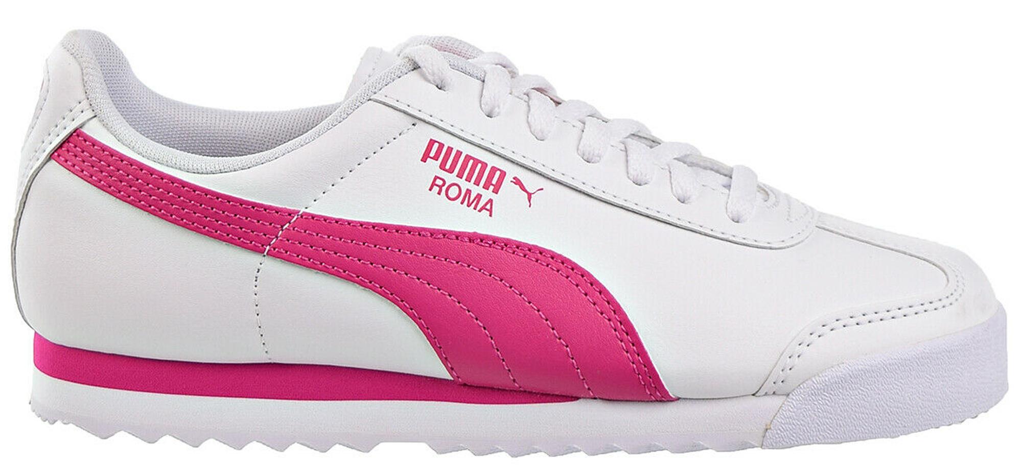 Puma Roma White Fuchsia Purple (GS