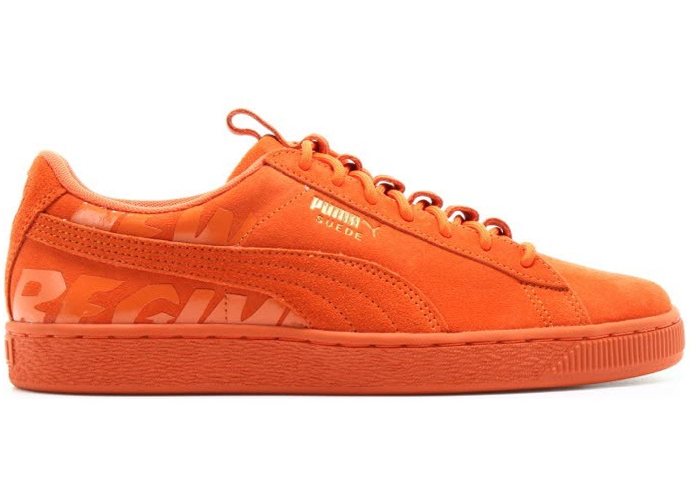 puma suede orange