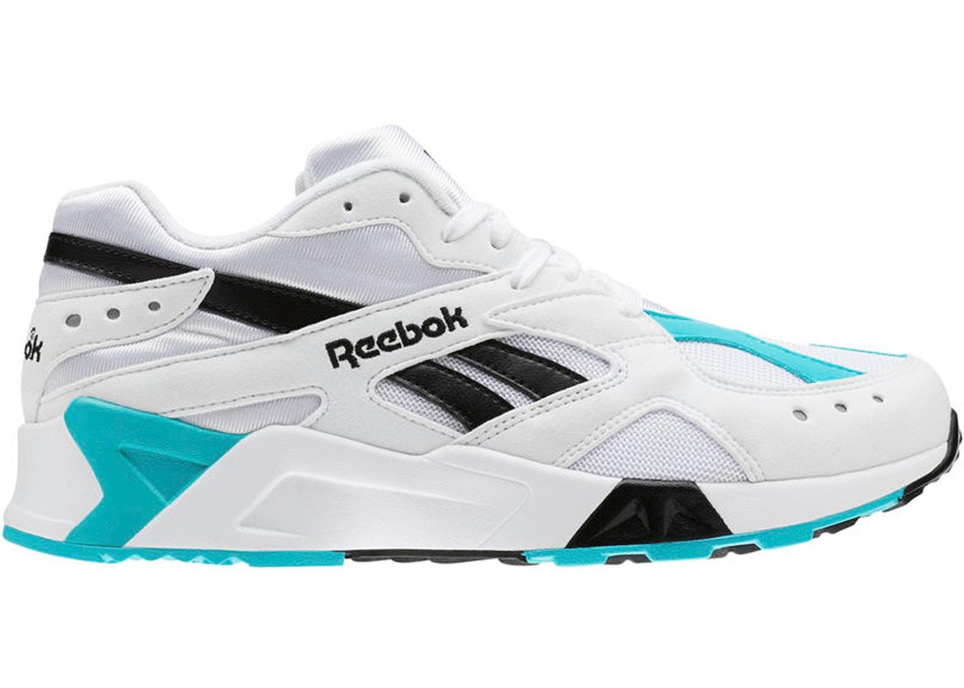 50705c43 Reebok Aztrek White Solid Teal Black