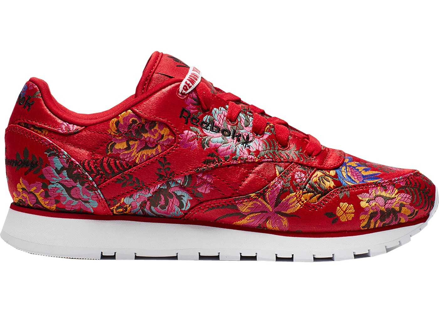 7302548b0e6 Reebok Classic Leather Opening Ceremony Floral Satin Red