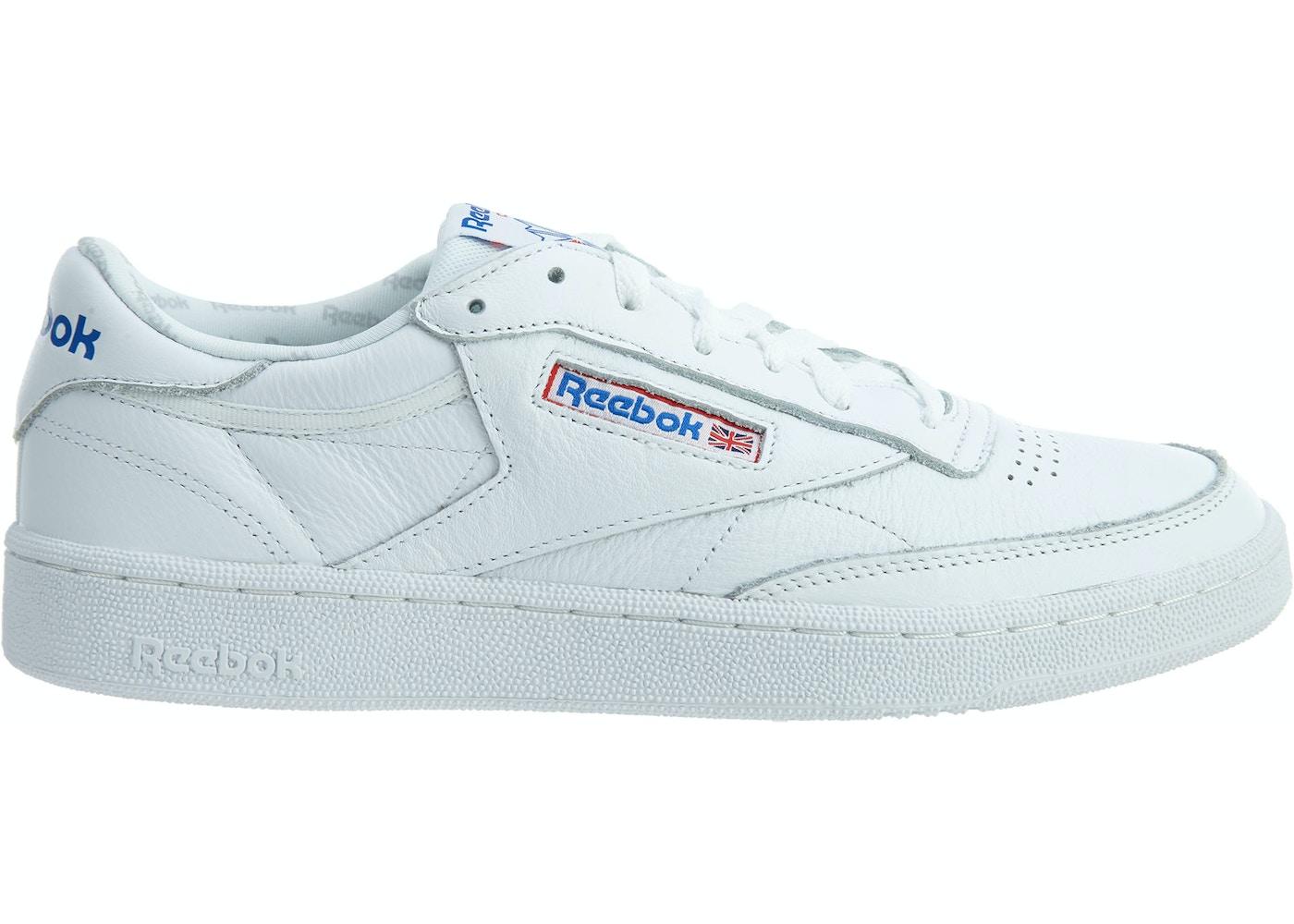 Reebok Club C 85 So White Light Grey Heather Solid Grey Blue
