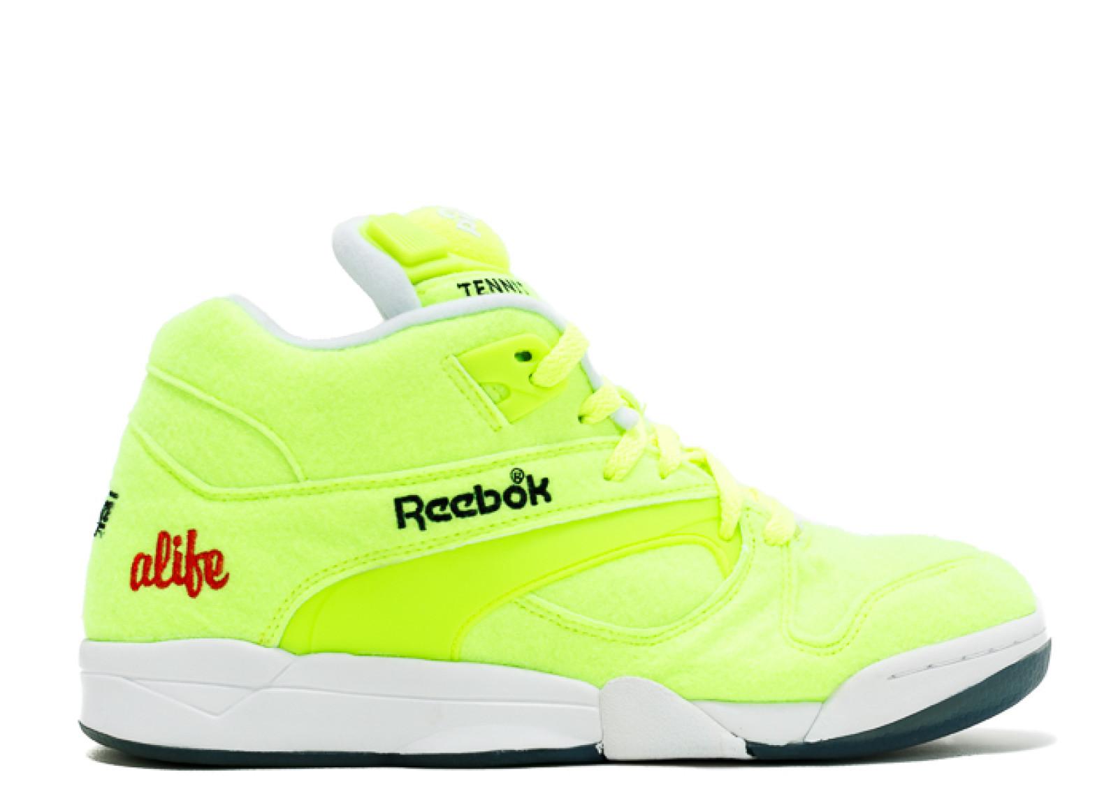 reebok pump yellow
