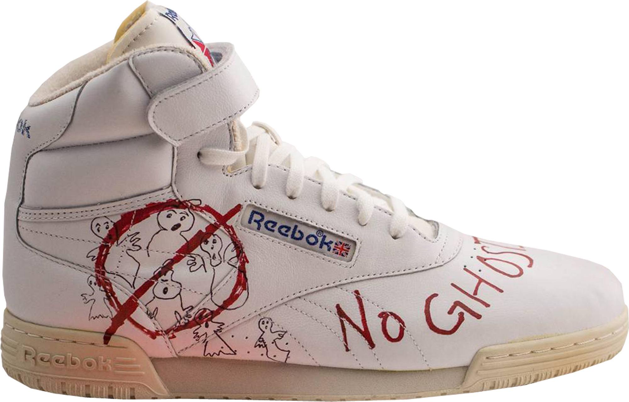 Reebok Ex-O-Fit Clean Hi Bait x Ghostbusters x Stranger Things Vintage