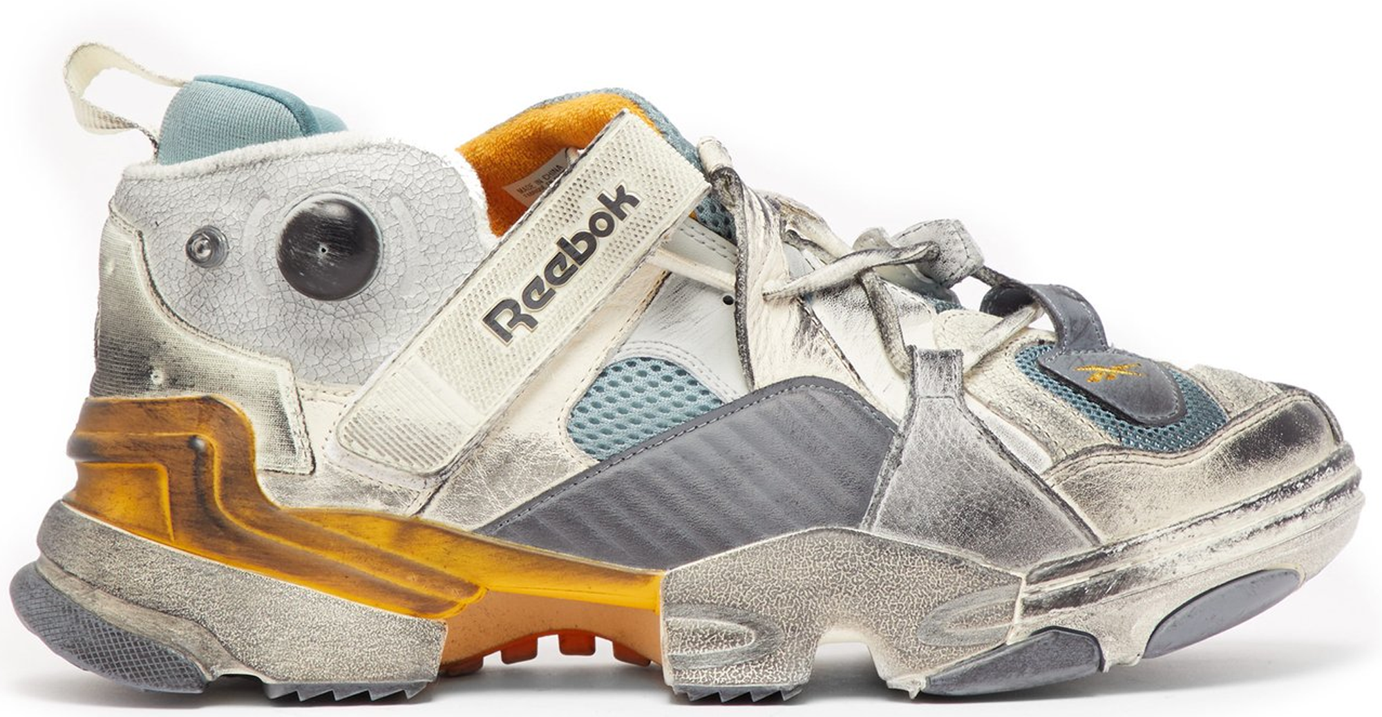 Reebok Genetically Modified Sneaker Vetements Grey สตรีท สนีกเกอร์ street sneaker