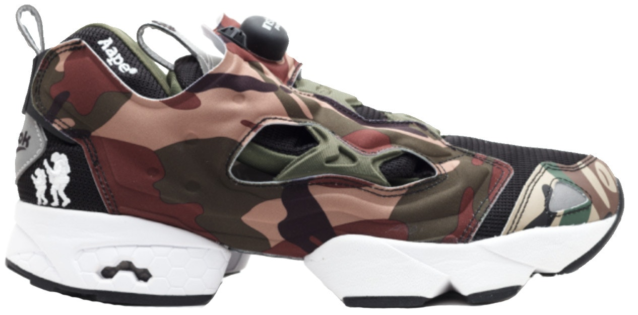 Reebok Instapump Fury Aape By a Bathing Ape
