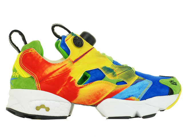 Reebok Insta Pump Fury OG x Crooked Tongues Blue Green Yellow (M42001)