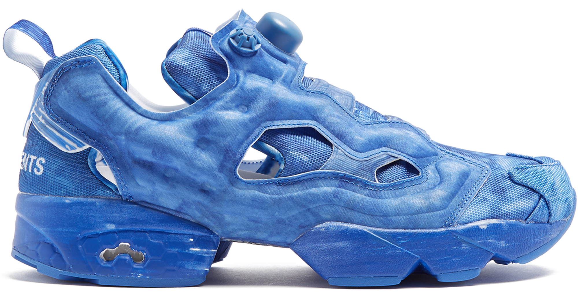 Vetements Blue Reebok Edition Instapump Fury Sneakers