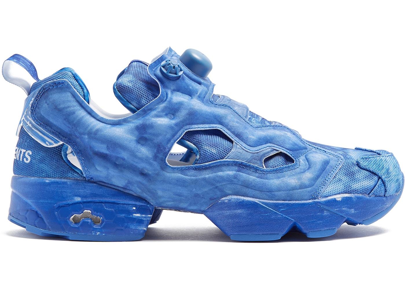 Vetements Blue Reebok Edition Instapump Fury Sneakers n667t