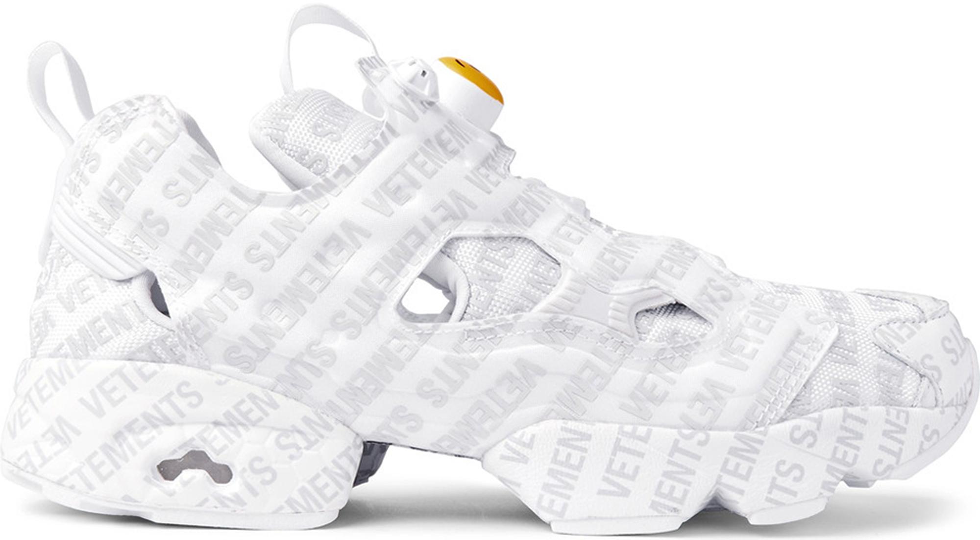 X Reebok Emoji Instapump Fury Sneakers VETEMENTS