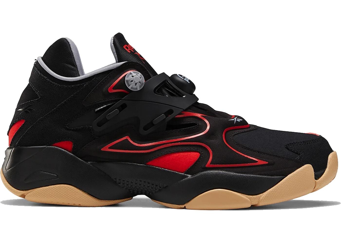bästa leverantör springa skor utförsäljning Reebok Pump Court Black Red Gum - FW7821
