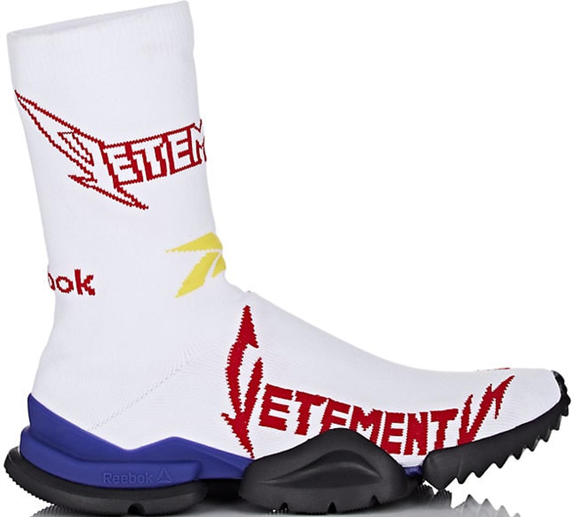 Reebok Sock Runner Vetements White Red