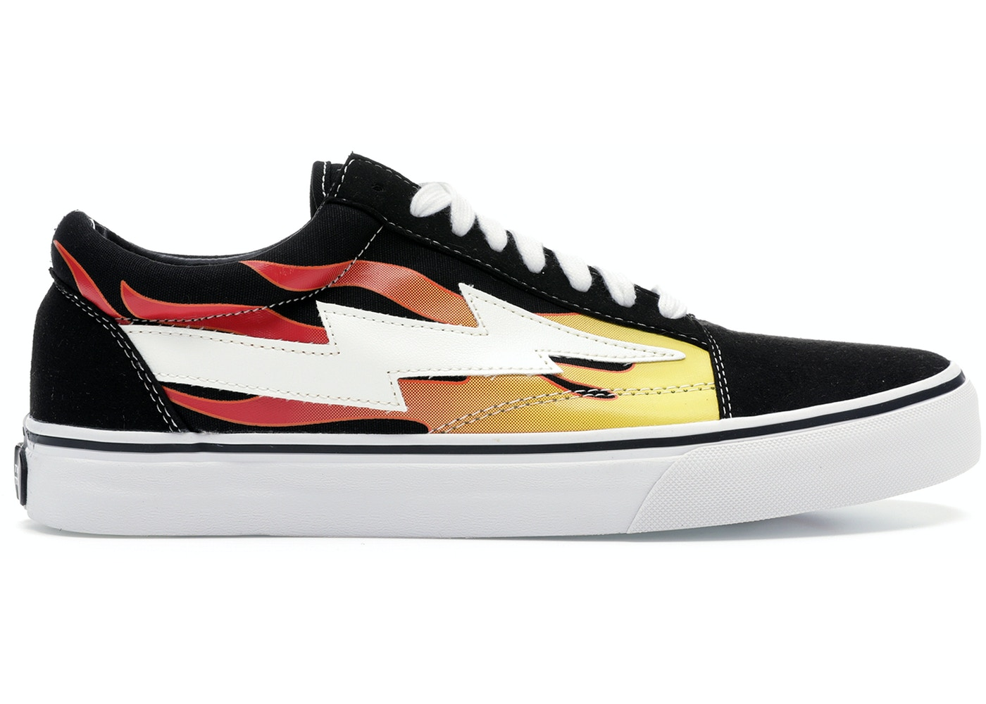 reputable site 2607e ba2ca Revenge X Storm Low Top Black (with Flames) - undefined