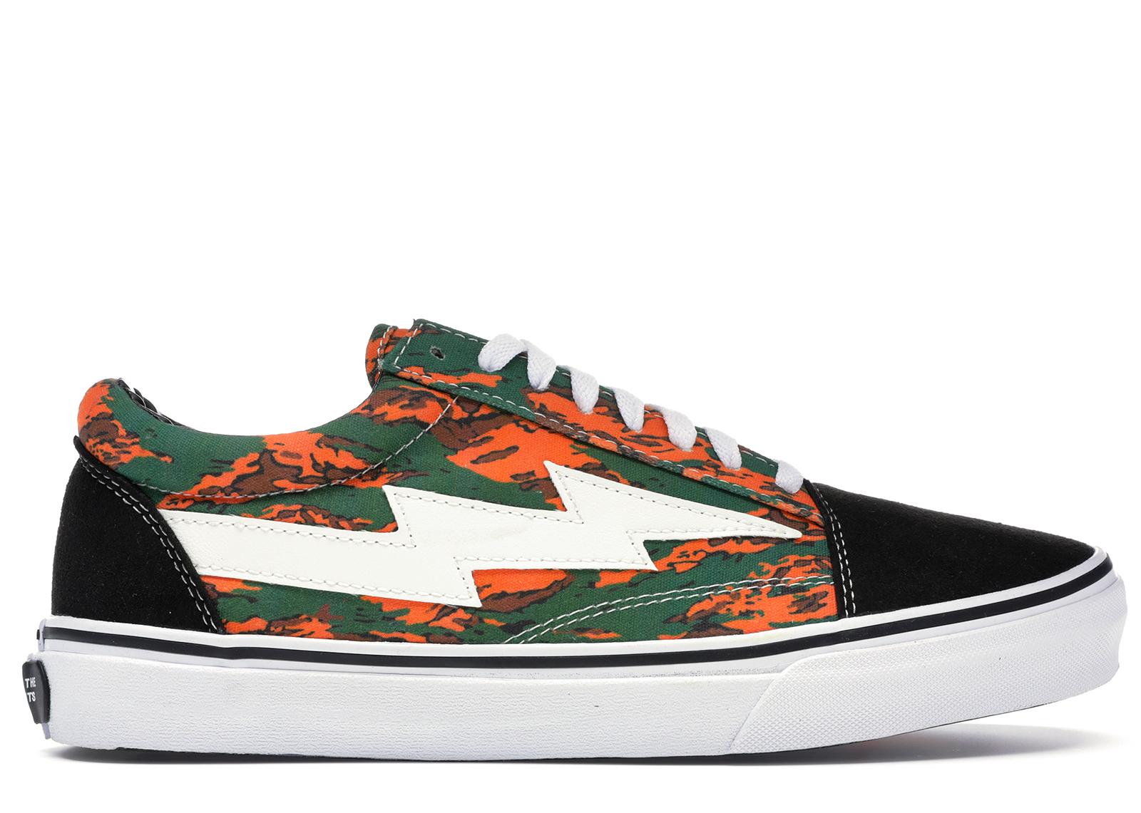 Storm Low Top Orange/Green Camo - Sneakers