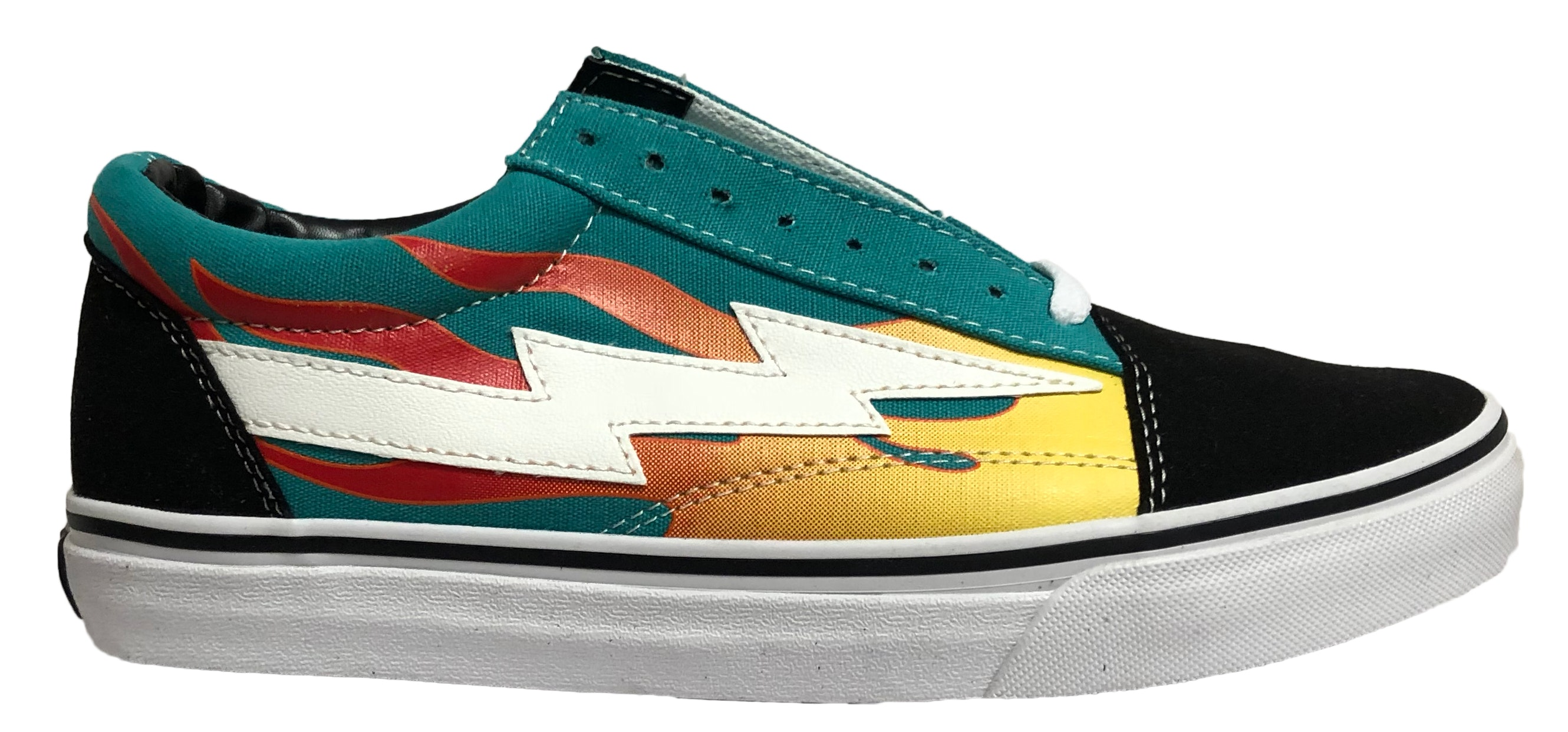 Revenge X Storm Low Top Teal (with Flames)