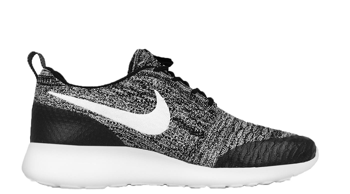 Nike Roshe One Flyknit Black White Cool Grey (W)