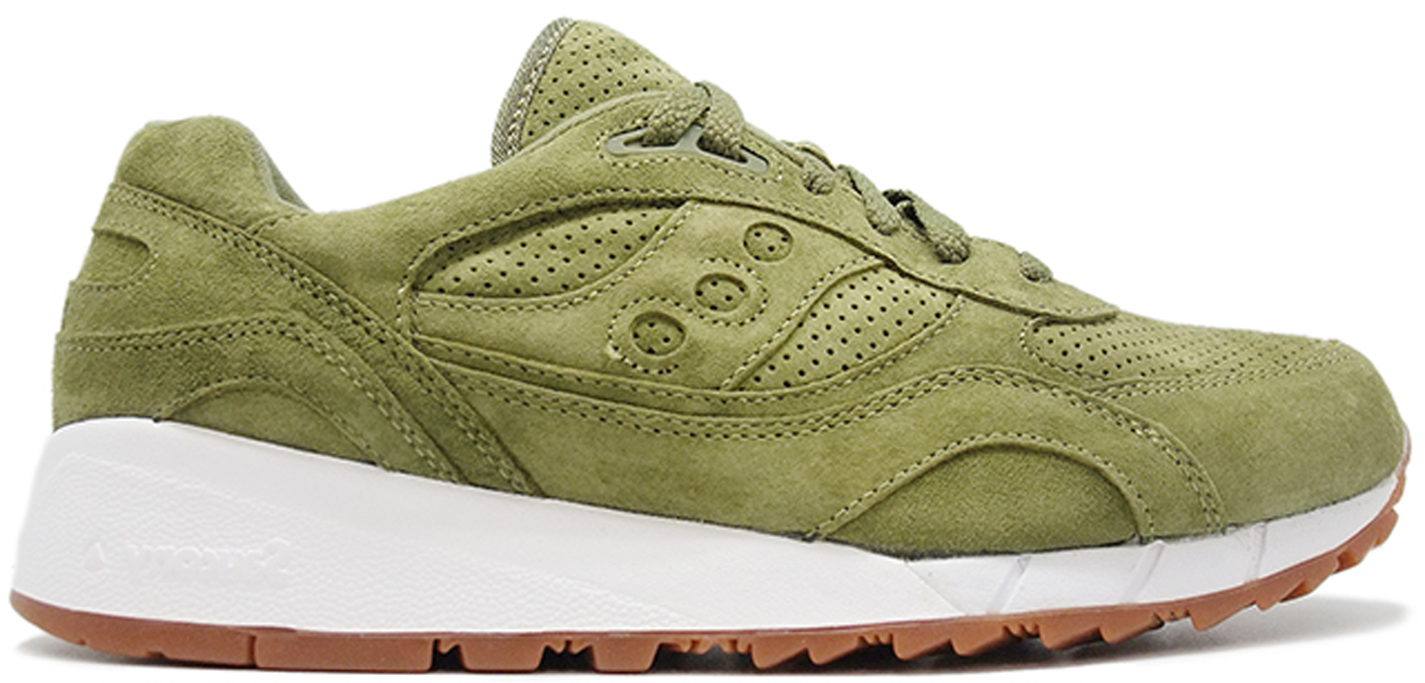 Saucony Shadow 6000 Olive Suede (Packer