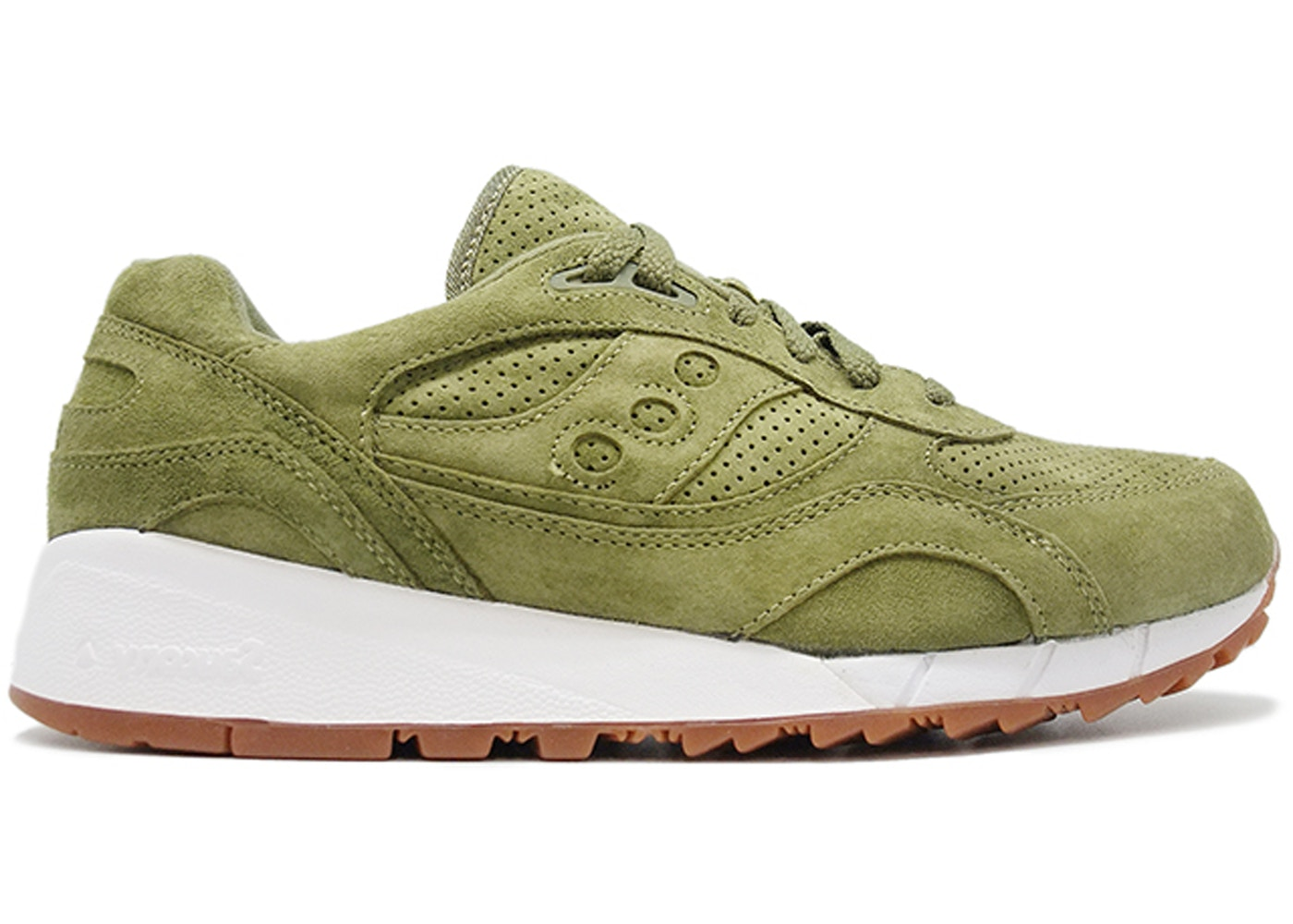 hot sales 041f0 97eb1 Saucony Shadow 6000 Olive Suede (Packer Shoes)