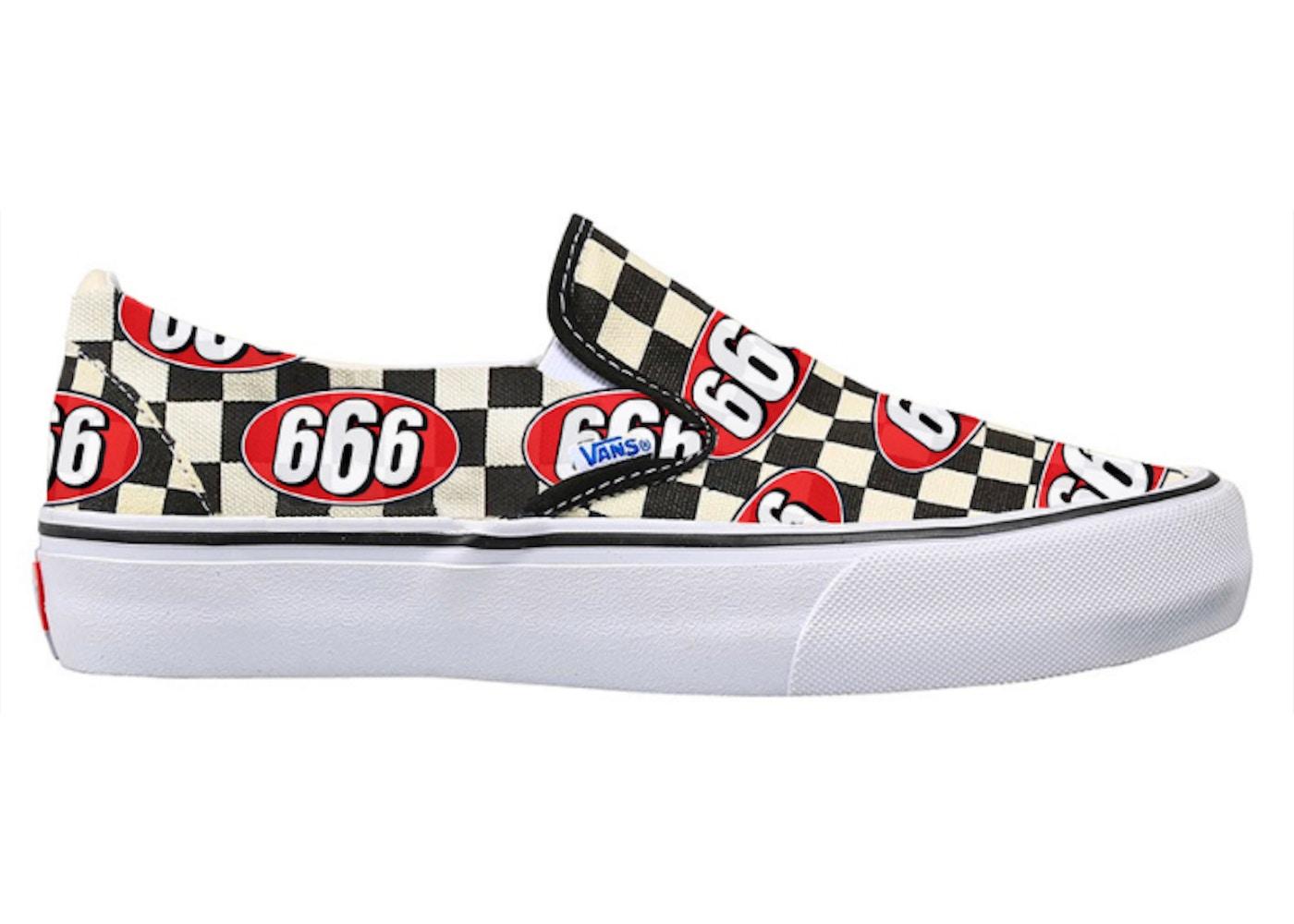 Vans Slip On Supreme 666 Checker