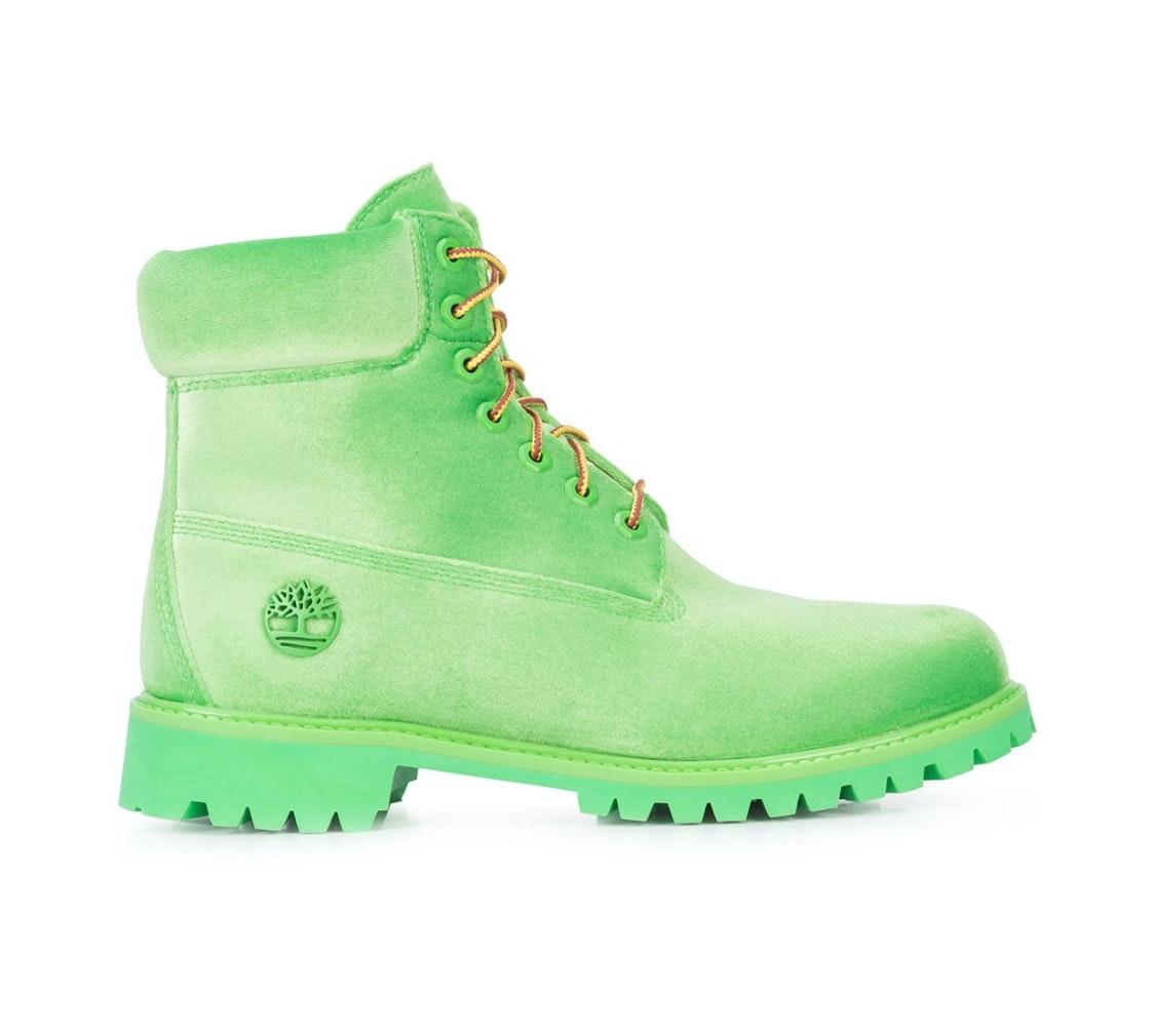 """Timberland 6"""" Boot Off White Green Velvet"""