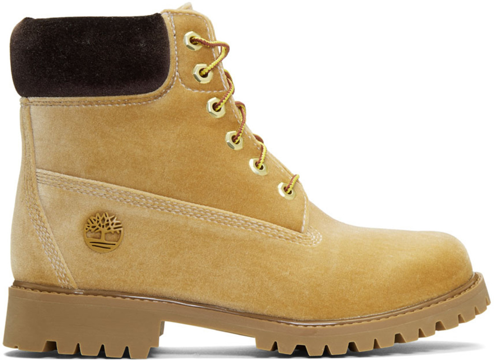 """Timberland 6"""" Boot Off White Wheat Velvet"""