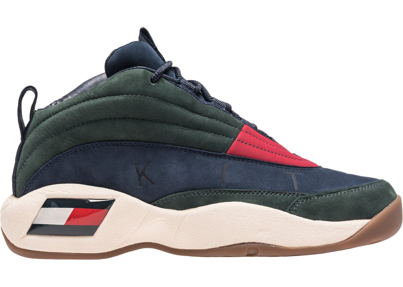 60f7a698 Tommy Hilfiger Skew Lux Basketball Sneaker Kith Green - KH9243-106
