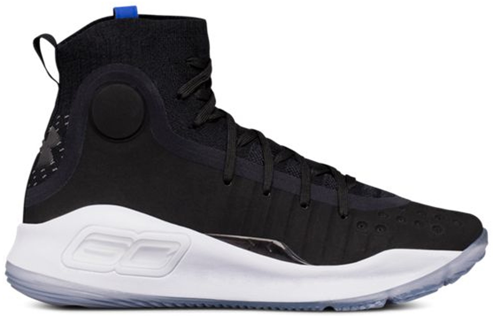 Under Armour Curry 4 Black White (GS