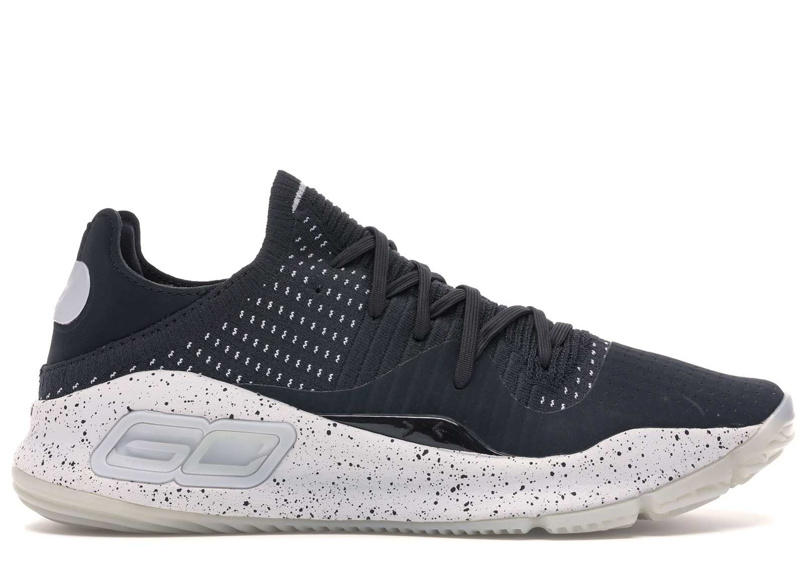 curry 4 low black and white