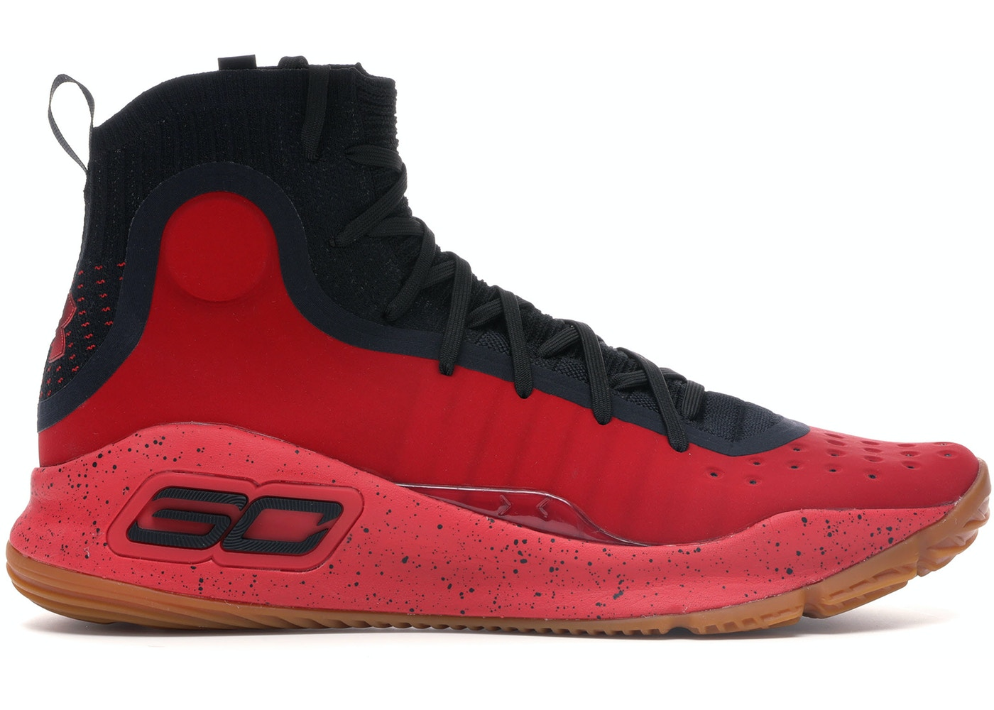 aa6e1f0c0330 Under Armour Curry 4 Red Black Gum - 1298306-603
