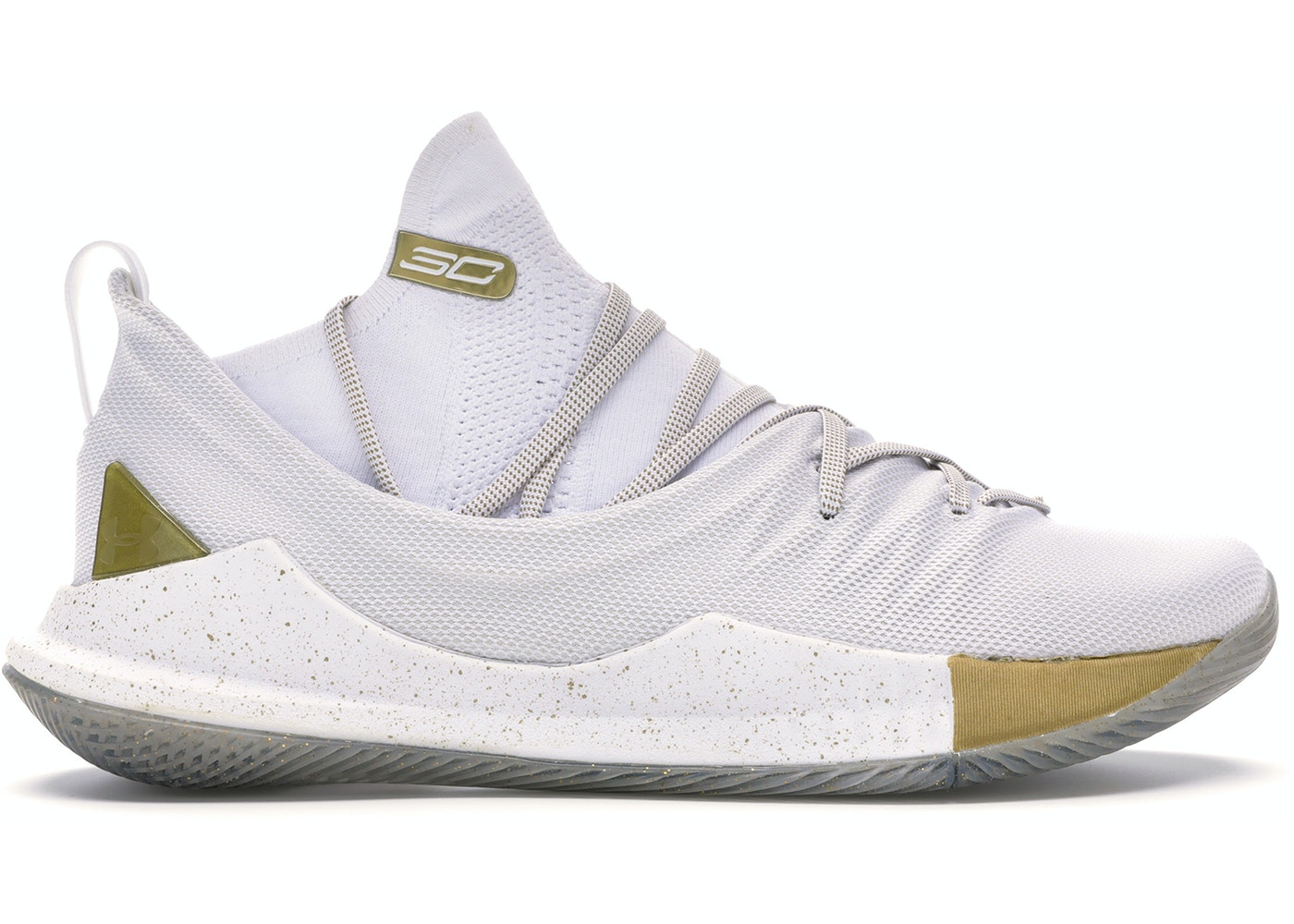 timeless design 20b38 abcc1 Under Armour Curry 5 White Gold