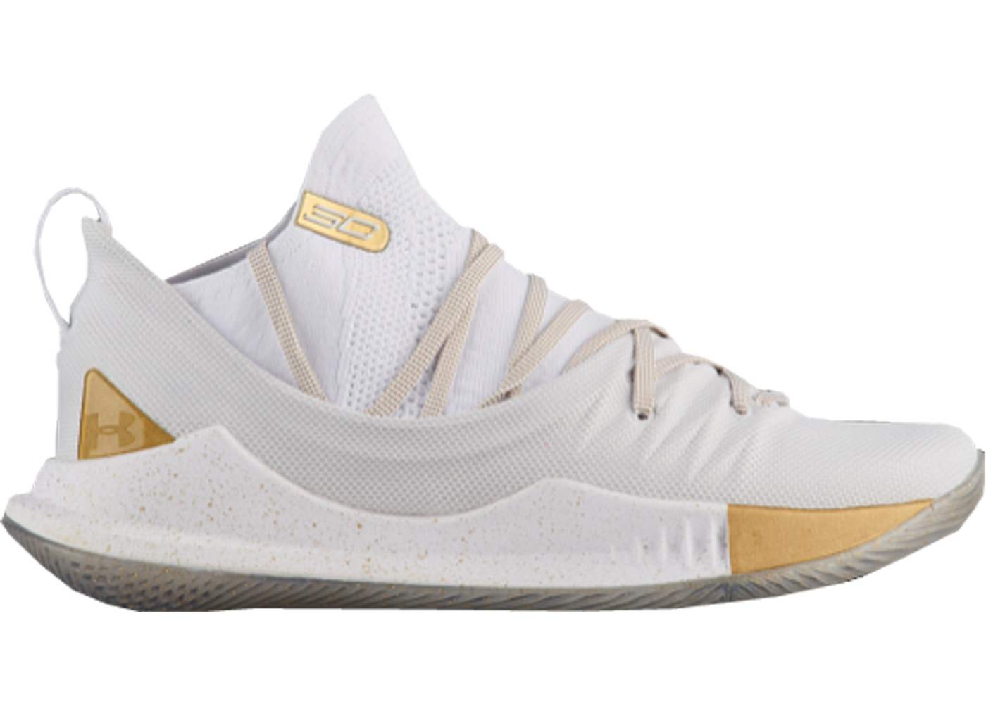 ... look out for 6c619 1ed34 Under Armour Curry 5 White Gold ... 8e8a51401