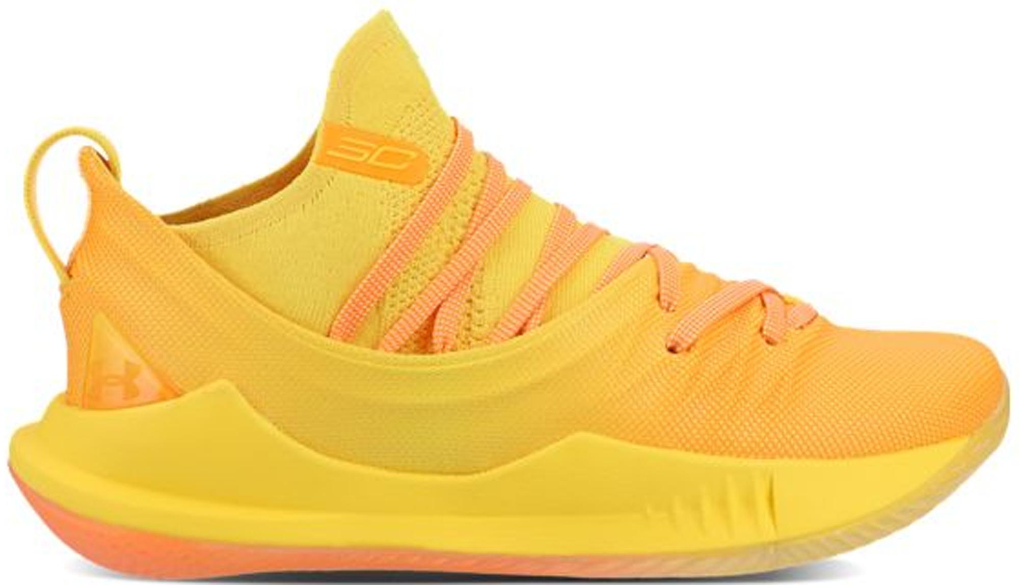 Under Armour Curry 5 Yellow Orange