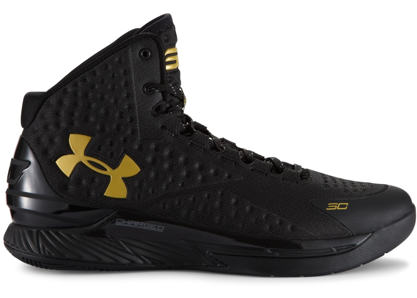 9124e50efc33 UA Curry 1 Black and Gold Banner - 1258723-008