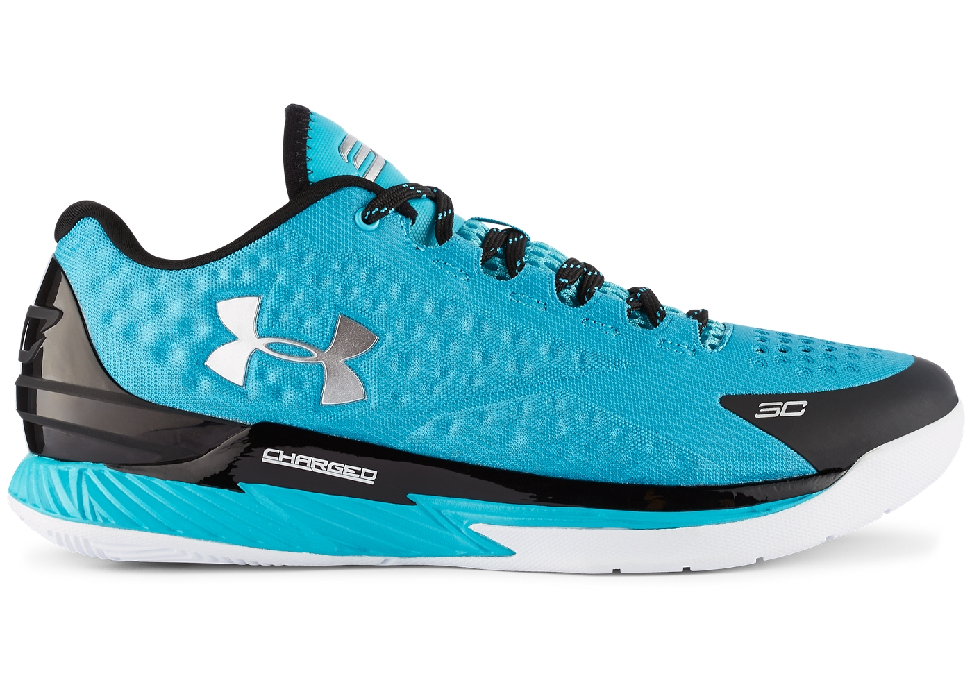 Discount Curry Shoes Men Cheap Under Armour Steph Curry One Low Panthers Teal Size