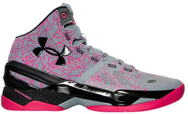low priced 2f428 dc9d7 Ua Curry 2 Mothers Day in Light Grey / Black - Pink