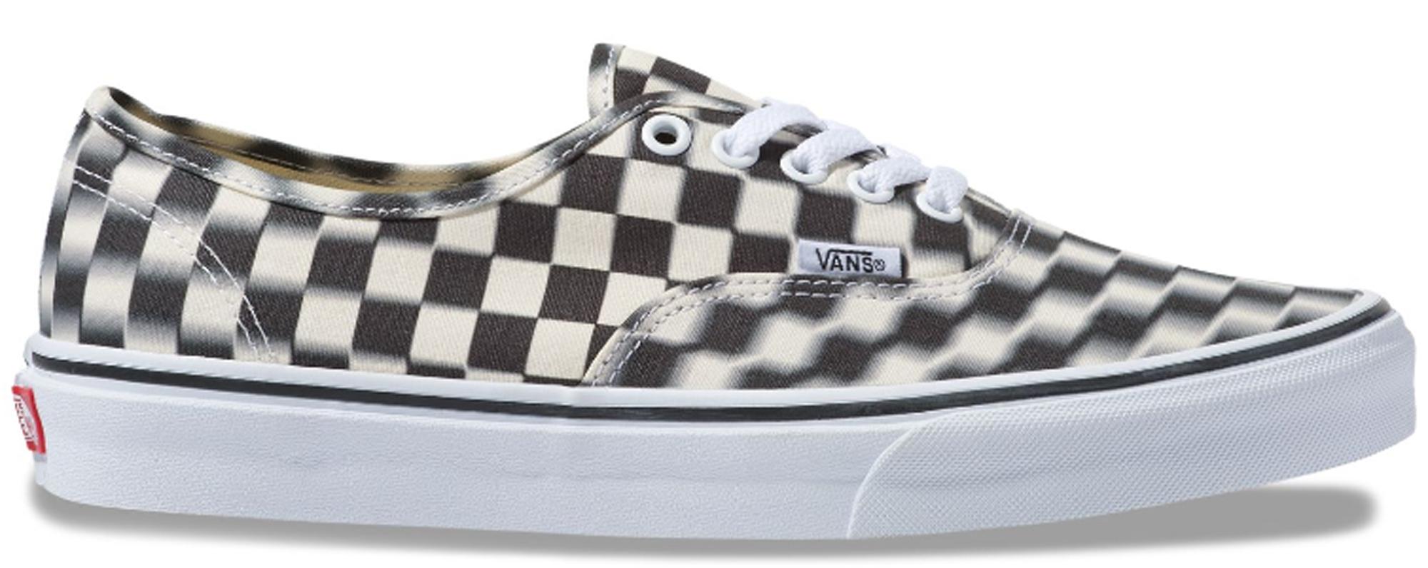 Vans Authentic Blur Check Black - Sneakers