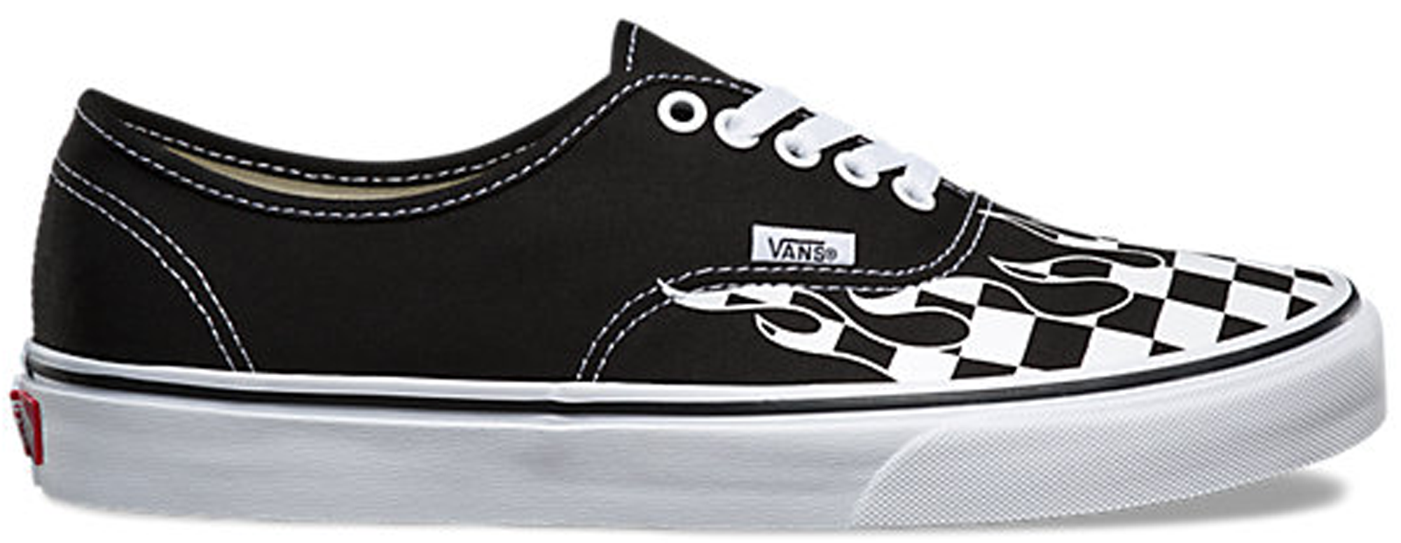 Vans Authentic Checkerboard Flame Black