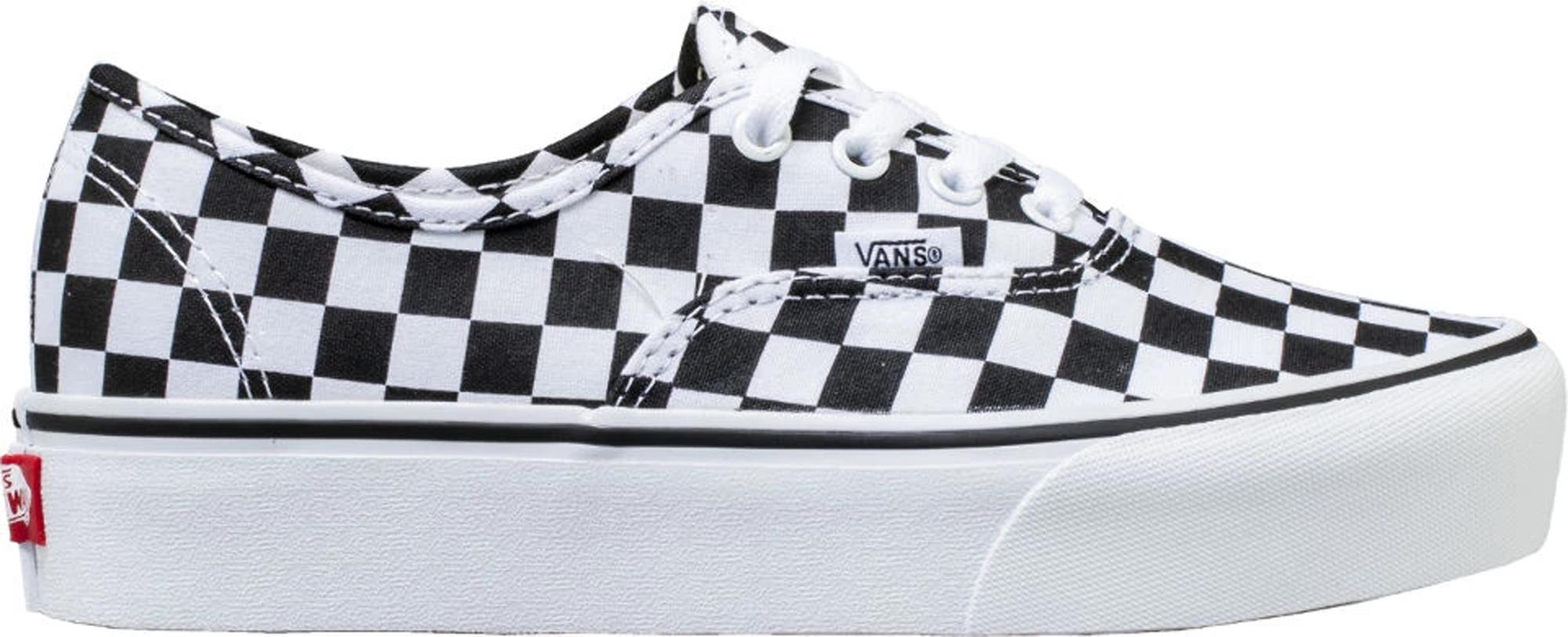 vans authentic checkerboard platform