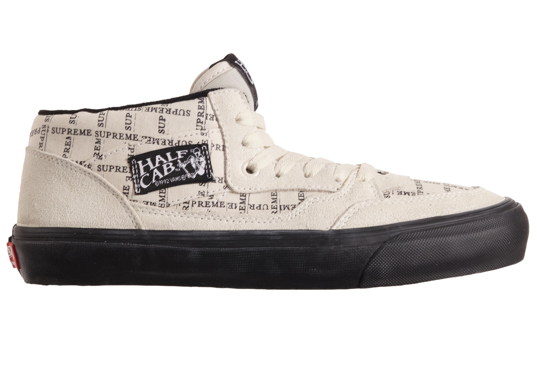 Vans Half Cab Supreme Grid White - Sneakers