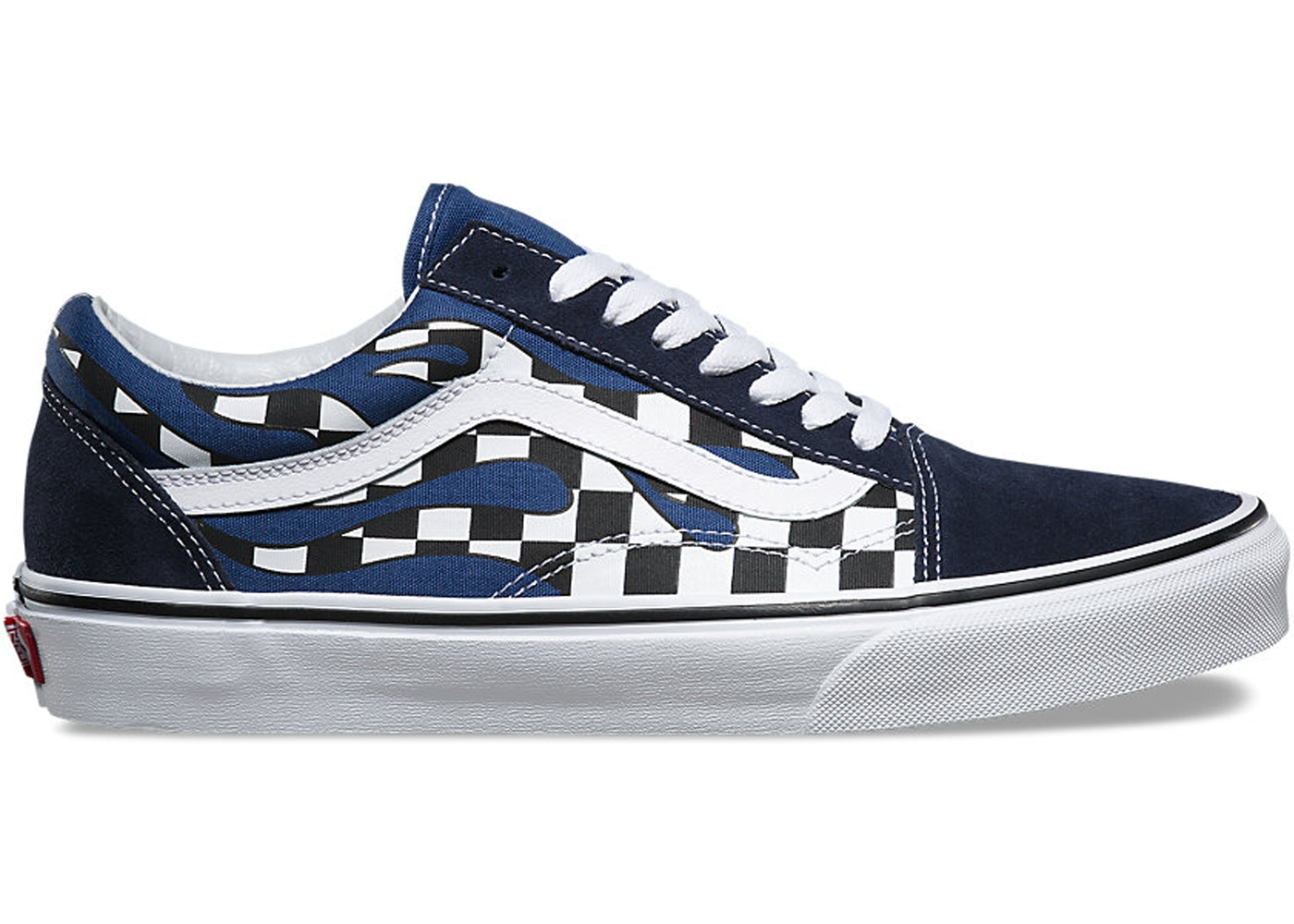 Vans Old Skool Checkerboard Flame Blue