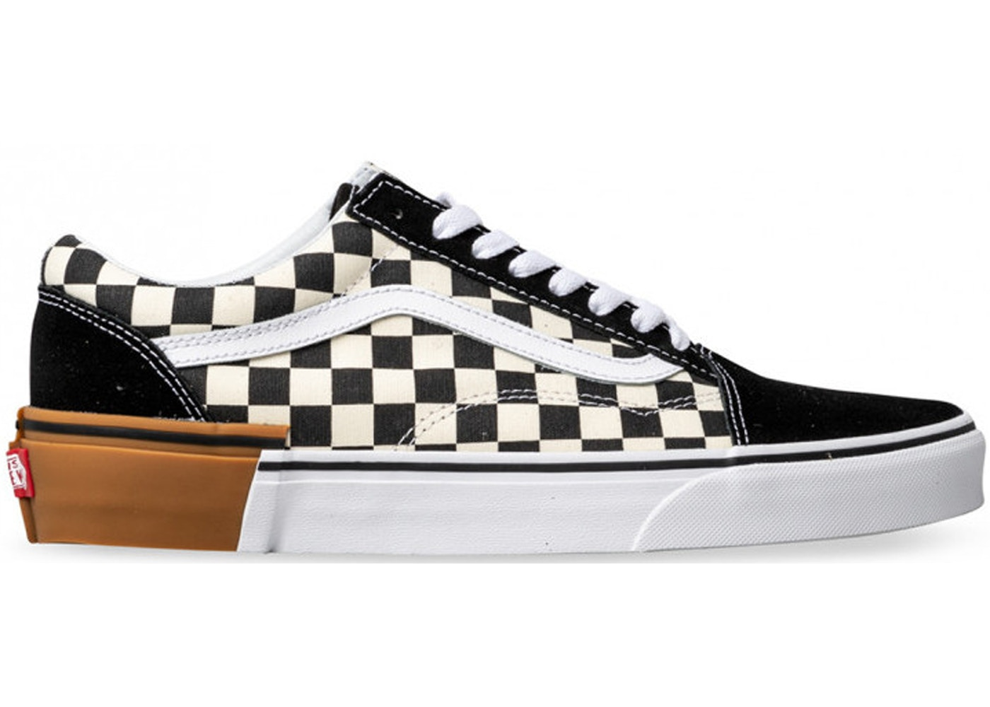 75c83061 Vans Old Skool Checkerboard Gum Sole