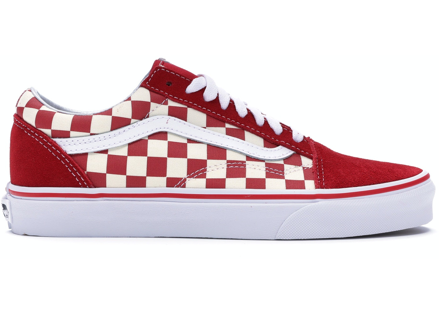 5464943b6a Vans Old Skool Checkerboard Racing Red - VN0A38G1P0T