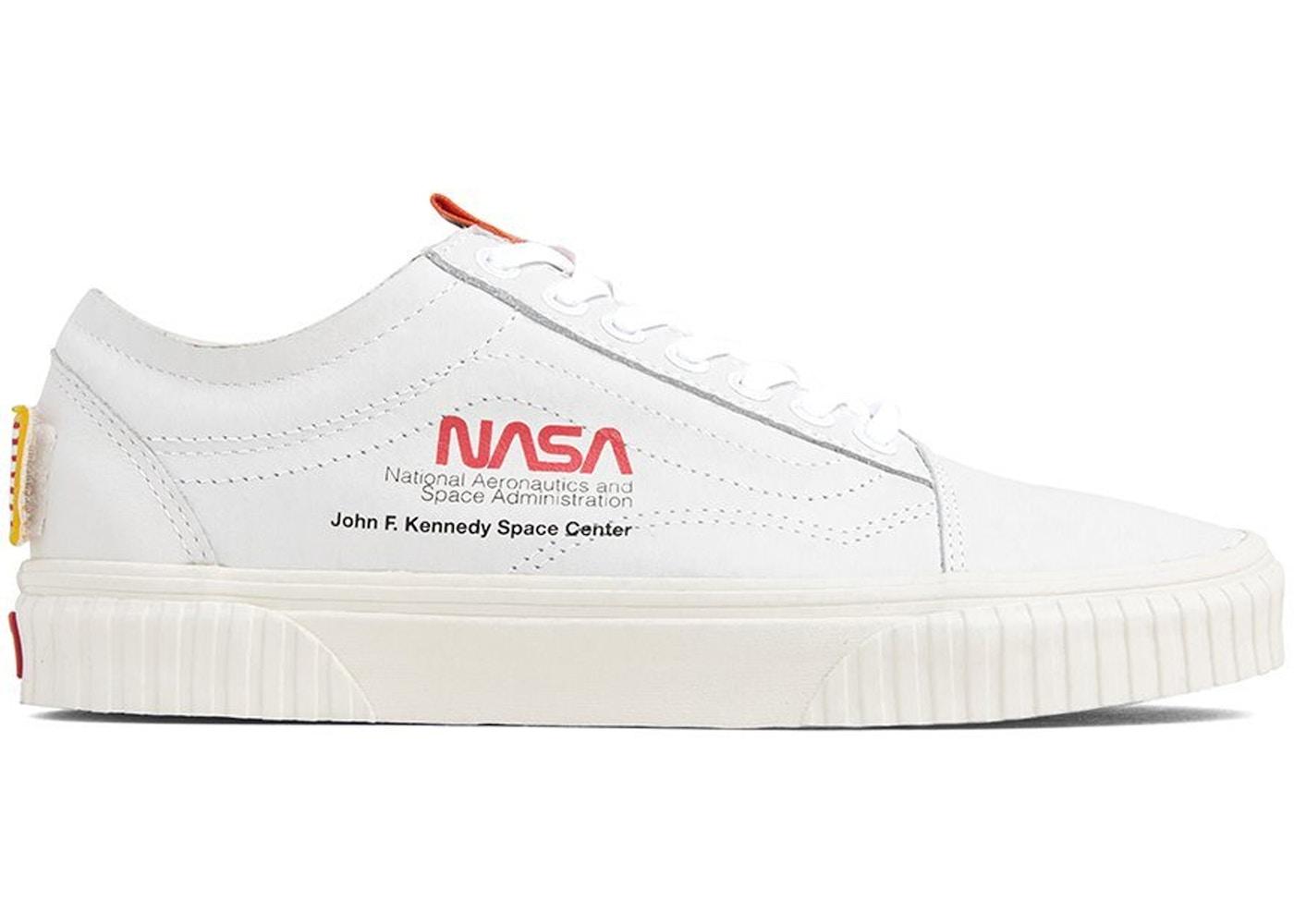 vans white shoes nasa